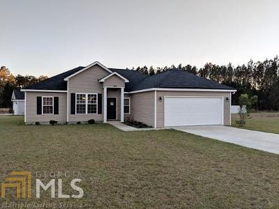 Statesboro Single Family Home New: 189 Stillwater Dr