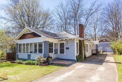 Atlanta Single Family Home Under Contract: 917 Cherokee Ave
