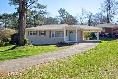 Cobb County Single Family Home Under Contract: 107 Gladstone Dr