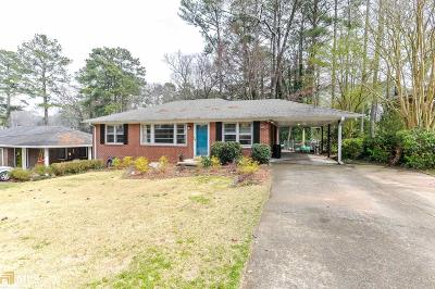 Smyrna Single Family Home Under Contract: 2879 Hillside Rd