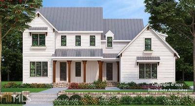 Cobb County Single Family Home New: 1 Carson Lane #Lot 1