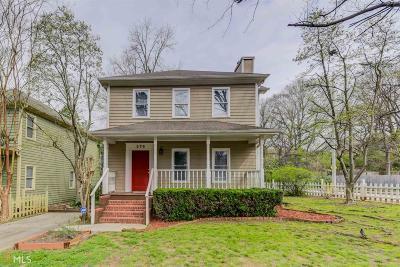 Grant Park Single Family Home New: 276 Cherokee