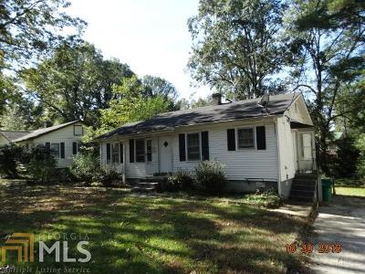 Clayton County Single Family Home New: 4677 Burks Rd