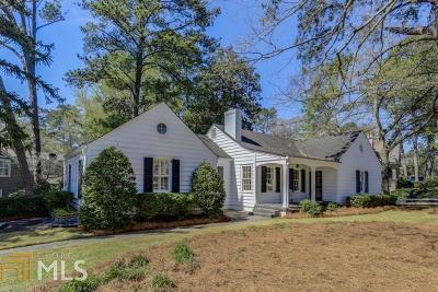 Cobb County, Fulton County Single Family Home New: 835 Glenbrook Drive