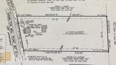 Buford Residential Lots & Land Under Contract: 3671 Hamilton Mill Rd