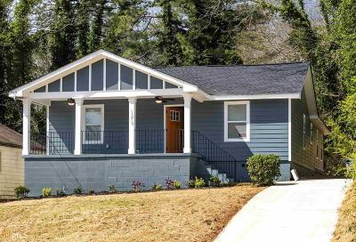 Atlanta Single Family Home New: 1219 Lockwood Dr