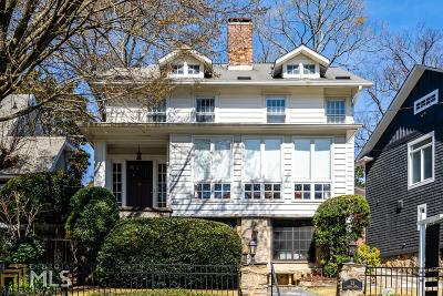 Atlanta Single Family Home New: 52 Inman Circle NE