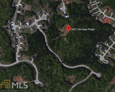 Flowery Branch Residential Lots & Land For Sale: 5867 Heritage Ridge