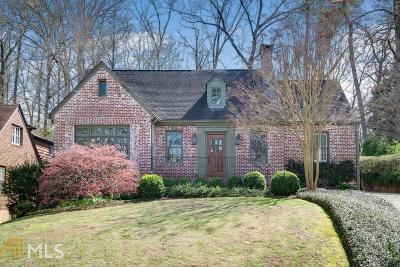 Atlanta Single Family Home New: 893 Plymouth Road NE