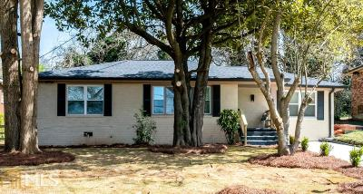 Atlanta Single Family Home New: 214 Napoleon Drive SW
