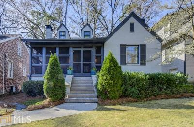 Atlanta Single Family Home New: 2013 Palifox Drive NE