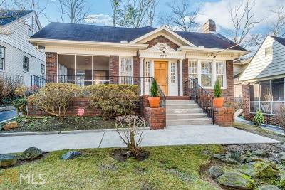 Atlanta Single Family Home New: 777 Brookridge Drive NE