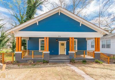 Fulton County Single Family Home New: 836 Gaston St