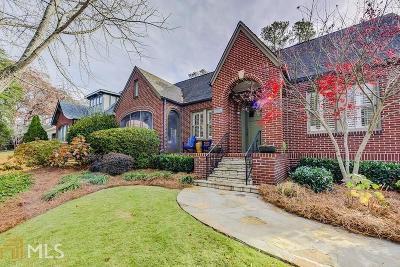 Atlanta Single Family Home New: 815 Yorkshire Road NE