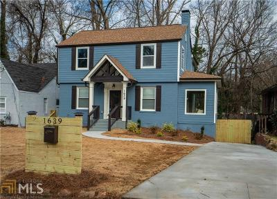 Atlanta Single Family Home New: 1639 Emerald