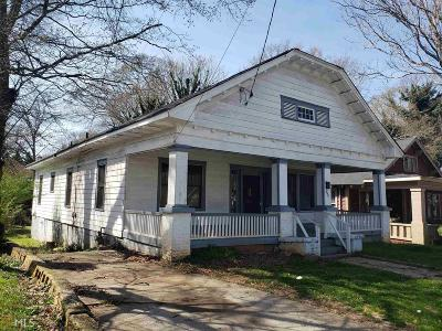 Atlanta Single Family Home New: 399 Mathewson Pl