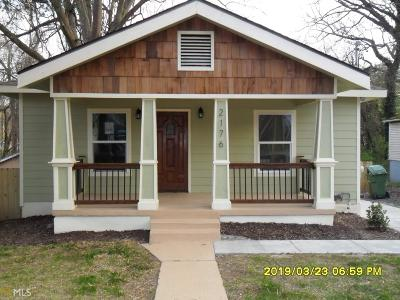 Atlanta Single Family Home New: 2176 SW Telhurst St