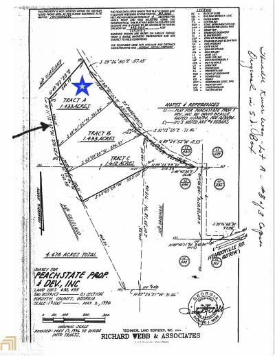 Cumming Residential Lots & Land Under Contract: Thunder River Way #Tract A