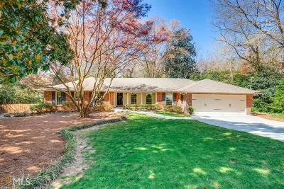 Sandy Springs Single Family Home Under Contract: 4780 Chatworth Ct