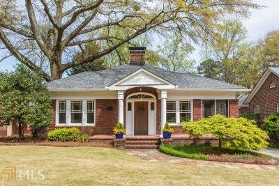 Druid Hills Single Family Home Under Contract: 1342 Emory Rd
