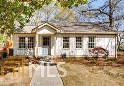 Historic Marietta Single Family Home For Sale: 289 Grover St