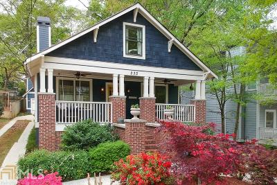 Decatur Single Family Home Under Contract: 235 Madison Ave