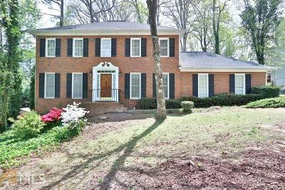 Roswell Single Family Home Under Contract: 4614 Blakedale Circle