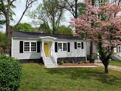 Hapeville Single Family Home New: 243 Moreland