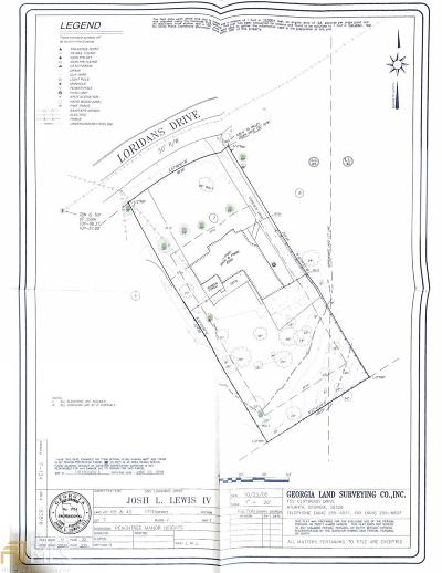 Atlanta Residential Lots & Land New: 585 Loridans Dr