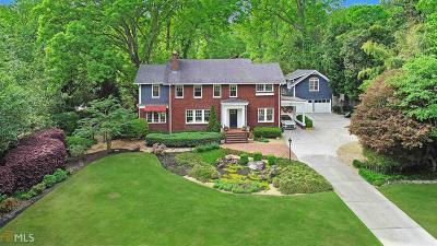 Druid Hills Single Family Home For Sale: 1020 Springdale Rd