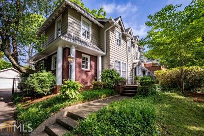 Druid Hills Single Family Home For Sale: 1028 Oxford Rd