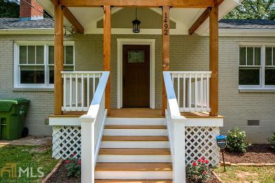 Atlanta Single Family Home New: 1492 Sharon Street NW