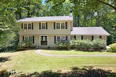 Roswell Single Family Home Under Contract: 4574 Woodland Cir