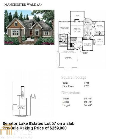 Paulding County Single Family Home New: Denton Rd