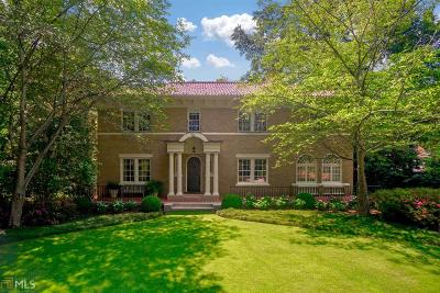 Druid Hills Single Family Home For Sale: 823 Springdale Rd