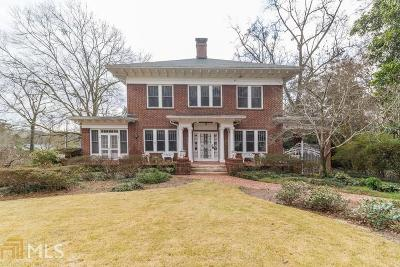 Druid Hills Single Family Home For Sale: 1248 Oxford Road