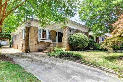 Atlanta Single Family Home New: 638 Moreland Ave