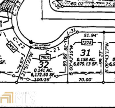 Fulton County Residential Lots & Land New: 7501 Spoleto Loop