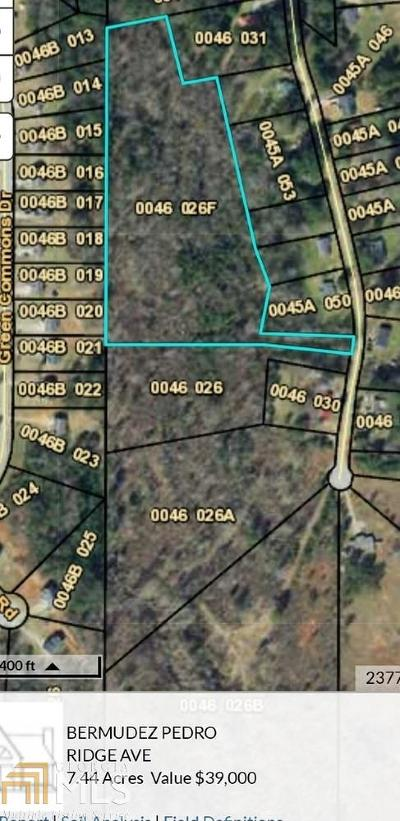 Newton County Residential Lots & Land New: Ridge Ave