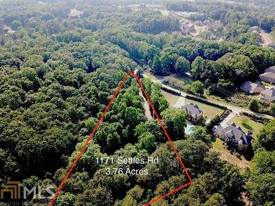 Suwanee Residential Lots & Land New: 1171 Settles
