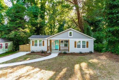 Atlanta Single Family Home New: 1585 Kenmore Street
