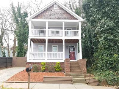 Atlanta Single Family Home New: 1012 Parsons St