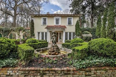 Druid Hills Single Family Home For Sale: 814 Lullwater Rd