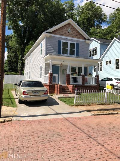 Peoplestown Single Family Home For Sale: 118 Haygood Ave