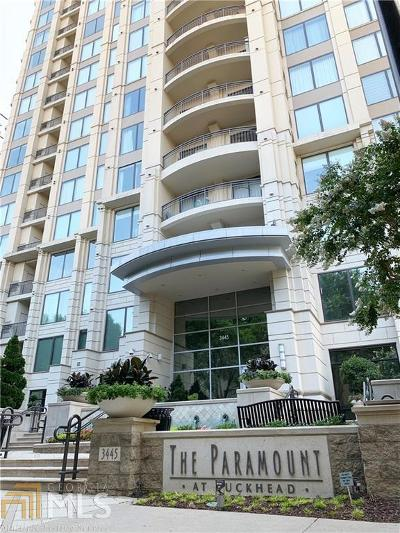 Paramount At Buckhead Condo/Townhouse For Sale: 3445 Stratford Rd #1407