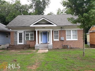 Atlanta Single Family Home New: 1606 S Gordon St