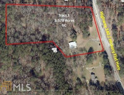Canton, Woodstock, Cartersville, Alpharetta Commercial For Sale: 8058 Hickory Flat Hwy #Tract 3