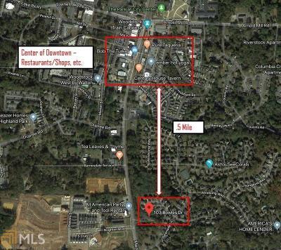 Canton, Woodstock, Cartersville, Alpharetta Commercial For Sale: 103 Bowles Dr