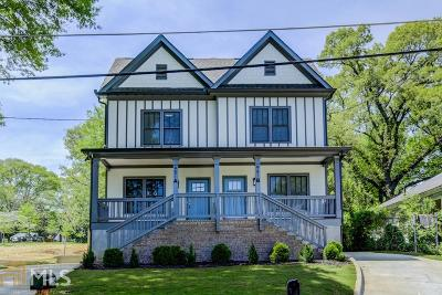 Peoplestown Condo/Townhouse For Sale: 951 Fern Ave #B