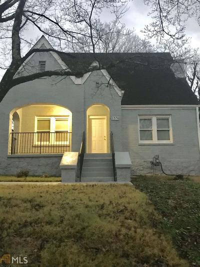 Atlanta Single Family Home New: 1576 Beecher